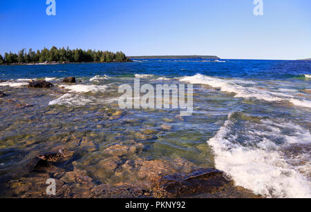 Bruce Peninsula National Park, Lake Huron in Georgian Bay, Canada - Stock Photo