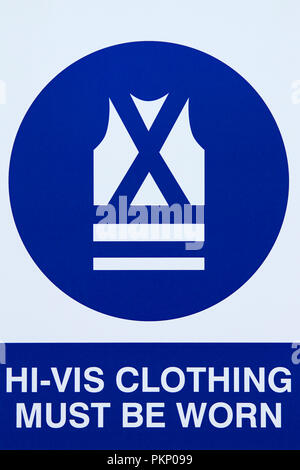 Hi-Vis Clothing Must be Worn sign. - Stock Photo
