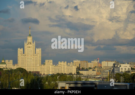 One of the Seven Sisters building in Moscow, Russia. - Stock Photo