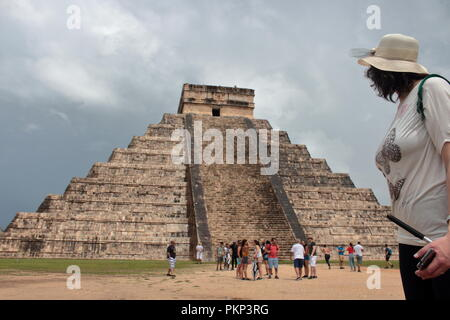 archaeological site of chechen Itzá city state of the Maya - Stock Photo