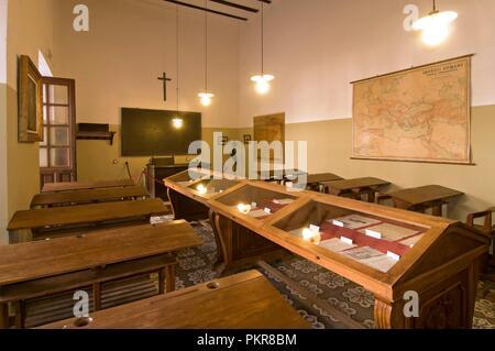 Classroom of Antonio Machado in the old university, Baeza, Jaen province, Region of Andalusia, Spain, Europe. - Stock Photo