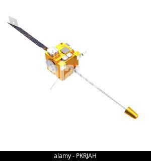 3d model of Weather Satellite on White Background. 3D illustration - Stock Photo