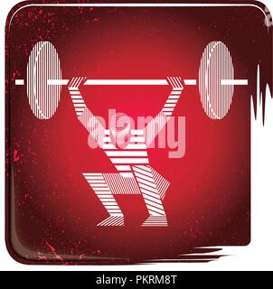 Weightlifting stripy icon - Stock Photo