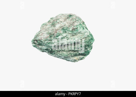 Natural green Muscovite from Brazil isolated - Stock Photo