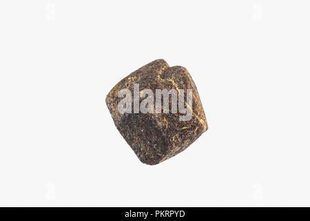 Garnet Crystal From Madagascar Pakistan Isolated - Stock Photo