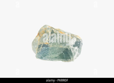 Natural Raw mineral Fluorite from Brazil isolated - Stock Photo
