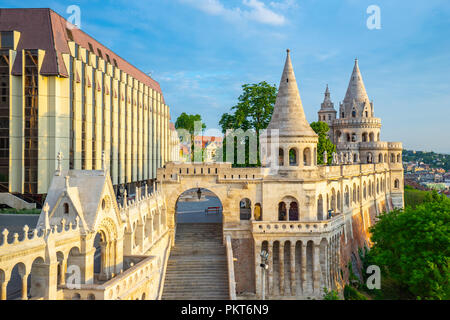 Fisherman's Bastion in Budapest city, Hungary. - Stock Photo