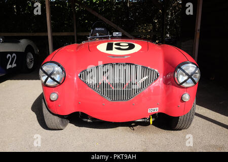 September 2018 -  Austin Healey 100/6 - Goodwood Revival weekend - Stock Photo