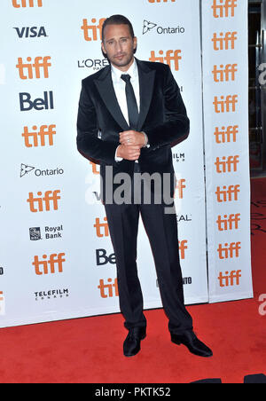 Toronto, Ontario, USA. 6th Sep, 2018. 06 September 2018 - Toronto, Ontario, Canada - Matthias Schoenaerts. ''Kursk'' Premiere - 2018 Toronto International Film Festival held at Princess of Wales Theatre. Photo Credit: Brent Perniac/AdMedia Credit: Brent Perniac/AdMedia/ZUMA Wire/Alamy Live News - Stock Photo