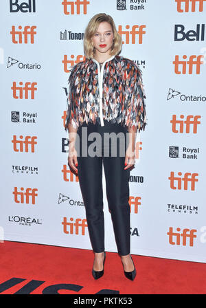 Toronto, Ontario, USA. 6th Sep, 2018. 06 September 2018 - Toronto, Ontario, Canada - Lea Seydoux. ''Kursk'' Premiere - 2018 Toronto International Film Festival held at Princess of Wales Theatre. Photo Credit: Brent Perniac/AdMedia Credit: Brent Perniac/AdMedia/ZUMA Wire/Alamy Live News - Stock Photo