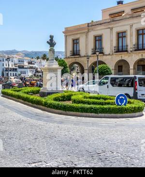 Ronda, Spain - 21 June 2017: Monument To Antonio De Los Rios Rosas In Ronda - Stock Photo