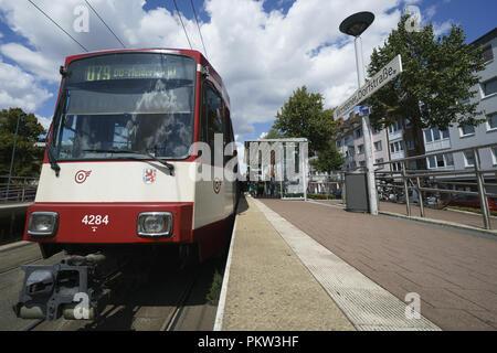 Dusseldorf Metro Stadtbahn in Germany  Featuring: Dusseldorf Metro Stadtbahn Where: Dusseldorf, Germany When: 15 Aug 2018 Credit: Oscar Gonzalez/WENN.com - Stock Photo