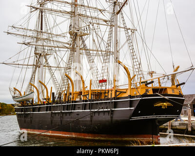 The Charles W. Morgan - America's oldest commercial ship still afloat - Stock Photo