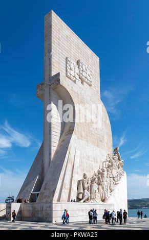 Monument to the Discoveries ( Padrao dos Descobrimentos ), Belem district, Lisbon, Portugal - Stock Photo