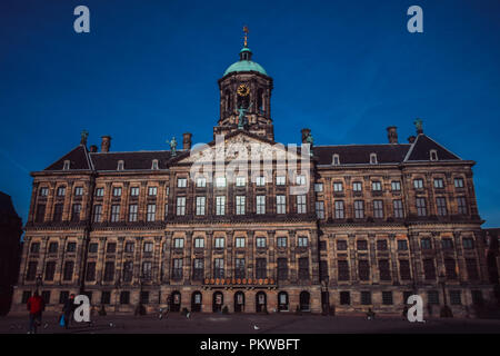 Paleis Op De Dam in the early morning - Stock Photo