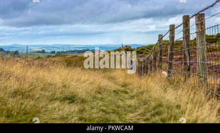 View from top of Horseshoe Pass - Stock Photo