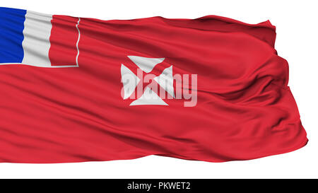 Wallis And Futuna Flag, Isolated On White Background, 3D Rendering - Stock Photo