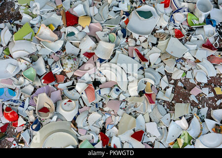 Shards bring luck, Polterabend. - Stock Photo