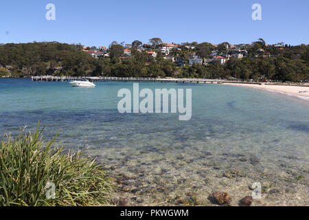 The beach at Clifton Gardens Reserve, Mosman on Sydney's lower north shore. - Stock Photo