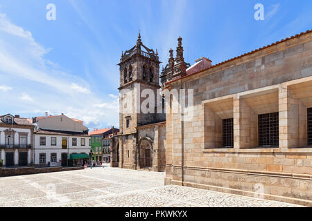 Braga, Portugal. Braga Cathedral aka Se de Braga, the oldest of all cathedrals in Portugal and a main Catholic worship place - Stock Photo