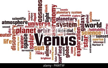 Venus word cloud concept. Vector illustration - Stock Photo