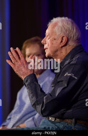 Jimmy and Rosalynn Carter at the 2018 Carter Center's Carter Center Weekend  at Washington's Skamania Lodge in the Columbia Gorge - Stock Photo