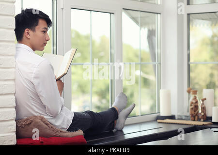 Asian young man student  - Stock Photo