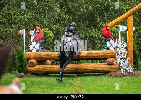 North Carolina, USA. 15th Sept 2018. Simone Sordi. Amacuzzi. ITA. Eventing Cross country Day 5. World Equestrian Games. WEG 2018 Tryon. North Carolina. USA. 15/09/2018. Credit: Sport In Pictures/Alamy Live News - Stock Photo