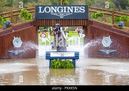 North Carolina, USA. 15th Sept 2018. Shane Rose. Virgil. AUS. Eventing Cross country Day 5. World Equestrian Games. WEG 2018 Tryon. North Carolina. USA. 15/09/2018. Credit: Sport In Pictures/Alamy Live News - Stock Photo