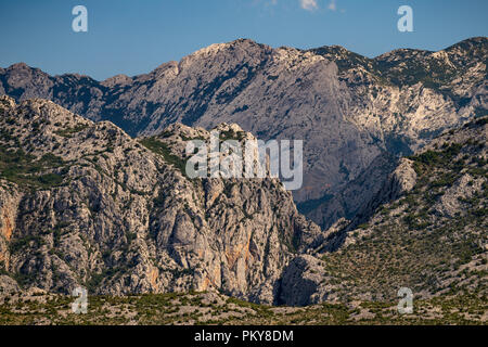Extreme mountains in Paklenica National Park, Velebit, Croatia - Stock Photo
