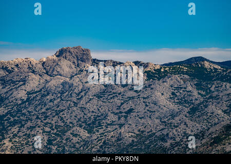 Extreme mountains in Paklenica National Park, Velebit, Croatia - Stock Photo