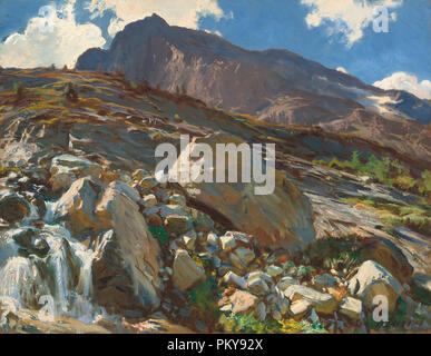 Simplon Pass. Dated: 1911. Dimensions: overall: 71.8 × 92.6 cm (28 1/4 × 36 7/16 in.)  framed: 92.1 × 112.7 × 8.9 cm (36 1/4 × 44 3/8 × 3 1/2 in.). Medium: oil on canvas. Museum: National Gallery of Art, Washington DC. Author: John Singer Sargent. - Stock Photo