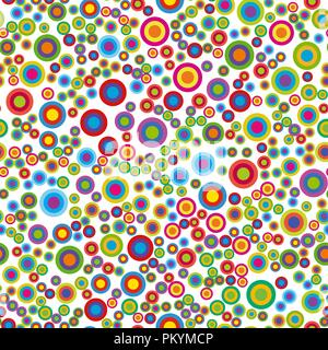Colorful psychedelic circles. - Stock Photo