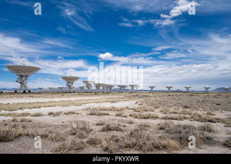 Located in Socorro New Mexico. Photo taken on a sunny partly cloudy day. - Stock Photo