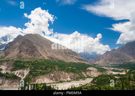 Karimabad, Hunza Valley, Gilgit-Baltistan, Pakistan : Hunza, a mountainous valley in far north Pakistan, bordering with the Wakhan Corridor in Afghani - Stock Photo