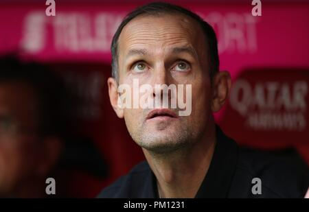 firo: 15.09.2018 Fuvuball, Football: 1.Bundesliga FC Bayern Munich - Bayer 04 Leverkusen, coach Heiko Herrlich, Bayer, Leverkusen, portrait, | usage worldwide - Stock Photo
