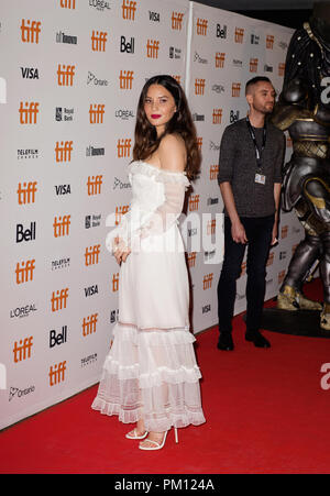 Toronto, Ontario, USA. 6th Sep, 2018. 06 September 2018 - Toronto, Ontario Canada - Olivia Munn. 2018 Toronto International Film Festival - ''The Predator'' Premiere held at Roy Thomson Hall. Photo Credit: Brent Perniac/AdMedia Credit: Brent Perniac/AdMedia/ZUMA Wire/Alamy Live News - Stock Photo