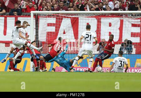 firo: 15.09.2018 Fuvuball, Football: 1.Bundesliga FC Bayern Munich - Bayer 04 Leverkusen, Leon Bailey, Bayer, Leverkusen, | usage worldwide - Stock Photo