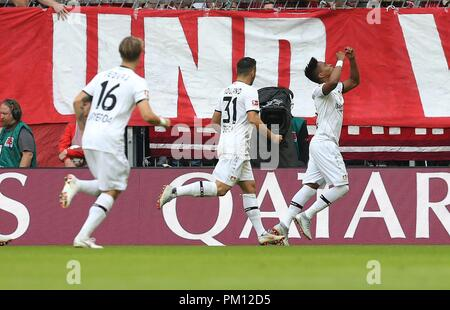 firo: 15.09.2018 Fuvuball, Football: 1.Bundesliga FC Bayern Munich - Bayer 04 Leverkusen, Wendell, Bayer, Leverkusen, full figure, jubilation | usage worldwide - Stock Photo