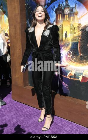 Hollywood, California, USA. 16th Sep, 2018. Lorenza Izzo. Premiere Of Universal Pictures' ''The House With A Clock In Its Walls'' held at TCL Chinese Theatre. Credit: Pma/AdMedia/ZUMA Wire/Alamy Live News - Stock Photo