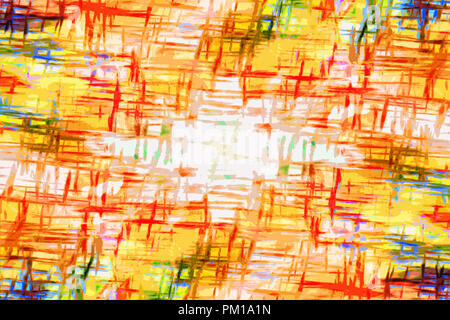 art abstract bright rainbow pattern background in orange, yellow and blue colors - Stock Photo