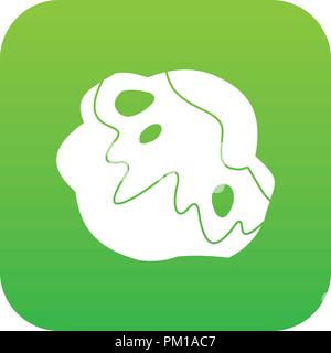 Moon stone icon digital green - Stock Photo