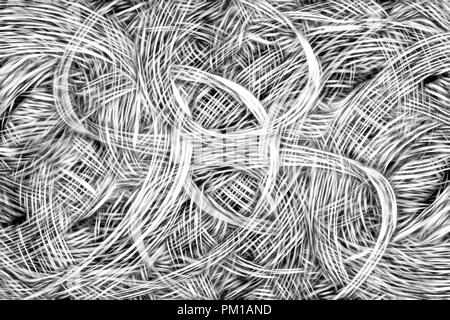 Art abstract black and white chaos pattern background - Stock Photo