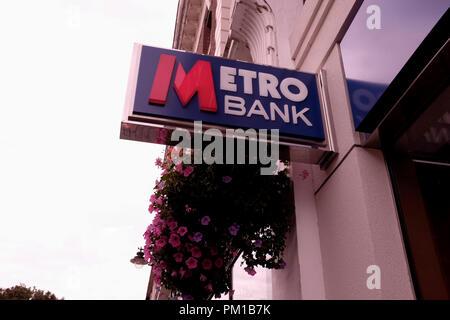 metro bank in the city of canterbury kent uk september 2018 - Stock Photo