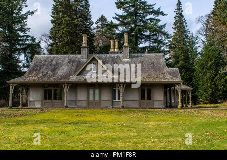 BALMORAL, SCOTLAND, APRIL 2 2016 - The Victorian Garden Cottage, where Queen Victoria would sometimes take breakfast and write in her journal. - Stock Photo