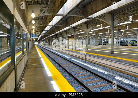 Toronto, Ontario, Canada-27 June, 2017: Toronto Union station terminal and railway tracks - Stock Photo