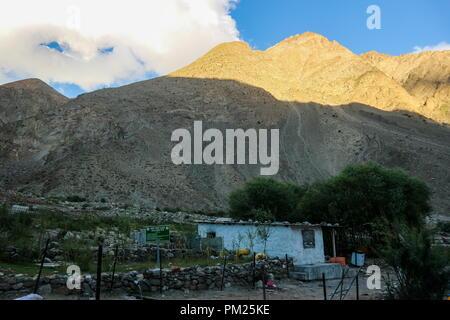 Landscape of Skardu village in summer, Gilgit Baltistan, Pakistan, Asia - Stock Photo