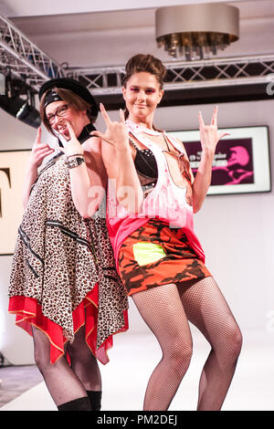 London, UK. 16th Sep 2018. 16 September 2018. London, England.Fashions Finest SS19, Day 2, Show 2 , 13 Magpie Design Studios UK, Cerys Wrigley-Moss.© Peter Hogan/Alamy Live News - Stock Photo