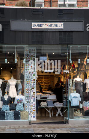 Brandy Melville Clothes Shop, Kings Road, Chelsea, London, England, UK - Stock Photo