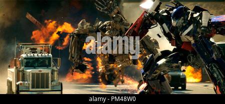 'Transformers' Bonecrusher, Optimus Prime © 2007 Dream Works - Stock Photo